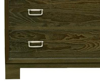 胴厚チェスト3の3「森」薄古美長座付角型 金具