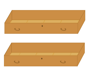 (図1)巾広4枚 / 巾広3枚+裾木2枚